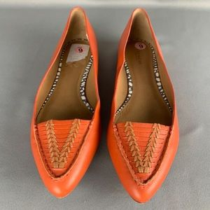 Coach pointed toe flat loafer